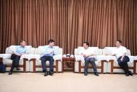 吴祖云会见湖北银行股份有限公司董事长刘志高一行
